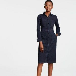 Ann Taylor Denim Shirt Dress or Jacket